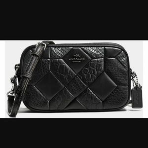 Coach double zip exotic wallet wristlet crossbody